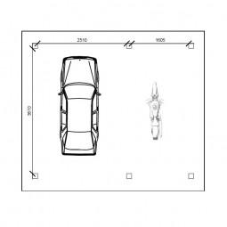carport voiture moto 20m²