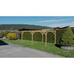 abri de jardin ou carport plat 15m²