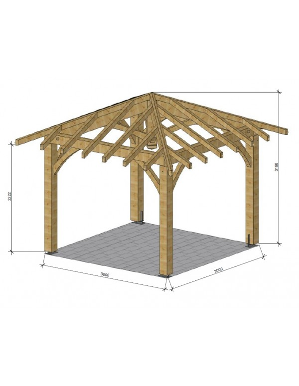 plan pour pergola en bois simple construire une pergola en bois lames orient es d maison. Black Bedroom Furniture Sets. Home Design Ideas