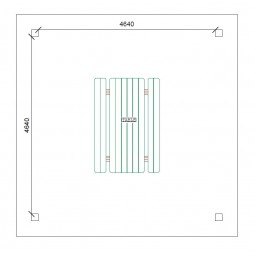 dimensions Abri carbet 25m²