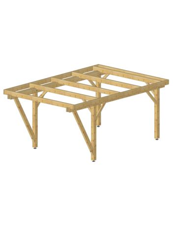 carport plat ou pergola 12m² avec auvent