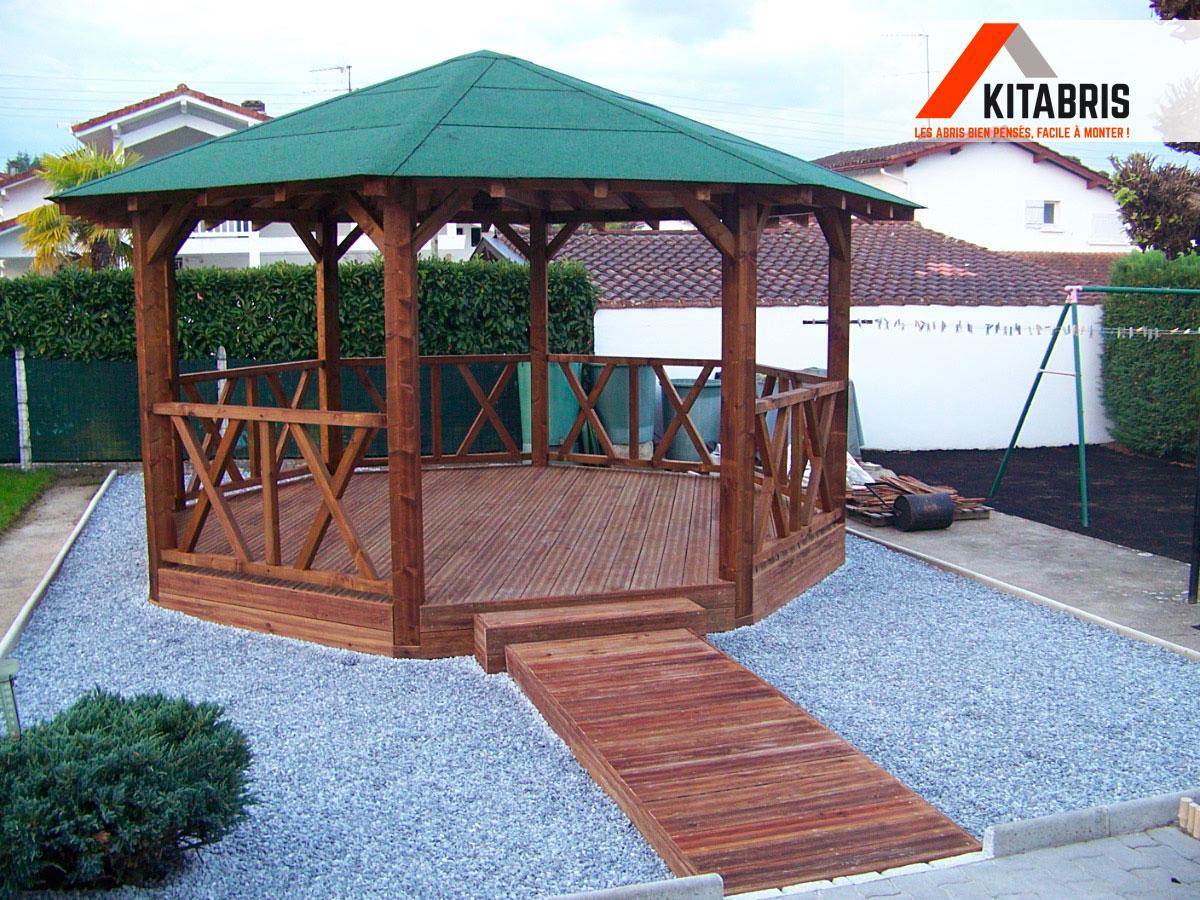 Kiosque En Bois Hexagonal kiosque en bois hexagonal - abri de style - kitabris.fr